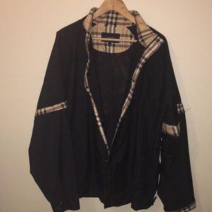 Burberry golf zip check jacket